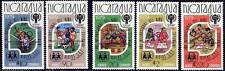 NICARAGUA 1980 YEAR of CHILD/ MOSCOW OLYMPICS red o/PRINT Mi#2080-84a MNH