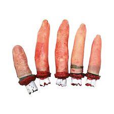 Halloween cortado sangriento Dedos Tabla Utilería Terror Decoración - 5 piezas