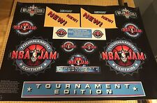 NBA Jam Tournament Edition Conversion Arcade Art Artwork Decals TE CPO Midway