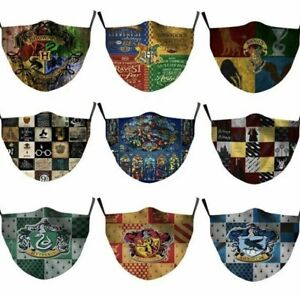 FACE MASK HARRY POTTER HOGWARTS HOUSE CREST WITH COMPLIMENTARY FILTERS