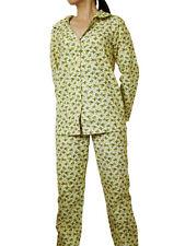 New Womens Flannel Sleepwear Pyjamas Warm Winter Shirt Pant Ladies Pajamas Set