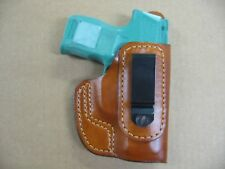 Sig Sauer P 365 Tuckable IWB Leather Inside Waistband Conceal Carry Holster TAN