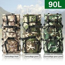 90L Mountaineering Hiking Camping Bag Tactical Travel Rucksack Backpack Outdoor