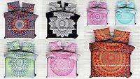 Indian Mandala Duvet Cover Queen Bed Set Reversible Quilt Doona Cover Blanket