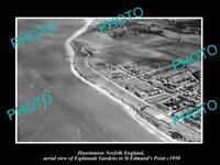 OLD LARGE HISTORIC PHOTO HUNSTANTON NORFOLK ENGLAND AERIAL VIEW ESPLANADE c1950
