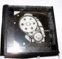 VINTAGE MAGIC LANTERN SLIDE OF A GEAR / COGS MACHINERY MECHANICAL STEAMPUNK