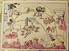 Carte de France Illustrées d'après Pinchon Bayonne Lourdes Pau Tarbes Aloses