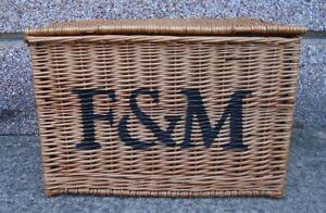 Fortnum and Masons Large Wicker Hamper Basket