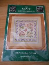 """Craft Collection Large Cross Stitch Kit Spring Floral Butterflies 12.5x12.5"""""""