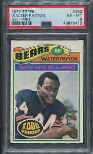 1977 Topps Walter Payton #360 PSA 6 1000 Yarder