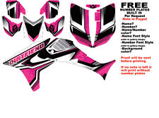 DFR FLOW GRAPHIC KIT PINK SIDES/FENDERS 06-07 HONDA TRX450R TRX 450  TRX450