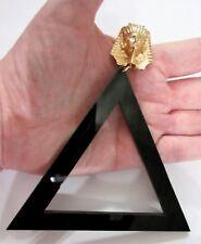"""OVERSIZED 4""""3/4 Inch Black Lucite Egyptian Pharaoh Runway Statement Earrings!"""
