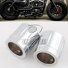 Chrome Edge Deep Cut Front Axle Nut Cover for Harley Dyna Softail Electra Glide