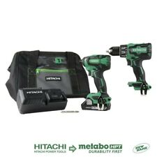 Hitachi 2-Tool 18-Volt Brushless Power Tool Combo Kit with Soft Case