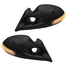 Sportspiegel Spiegel schwarz manuell mit LED Blinker OPEL CORSA C