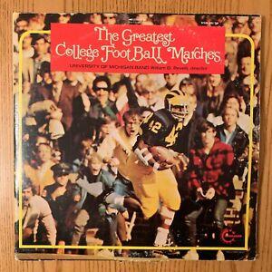 Greatest College Football Marches -1971 OG VANGUARD VINYL LP - Notre Dame U of M