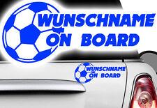 1x Aufkleber WUNSCHNAME ON BOARD Sticker Hangover Baby Tor Kind Fußball Ball xxx
