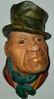 """Bossons BILL SIKES 1964 Chalkware Head England  6"""" Tall Wall Hanging"""
