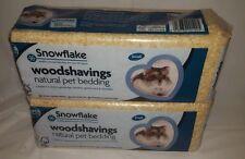2 x Snowflake Natural Pet Bedding Wood Shavings Rabbit Guinea Pig  £2.99 EACH!