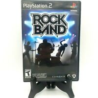 Rock Band Sony PlayStation 2 PS2 Complete CIB Game Case Manual Black Label