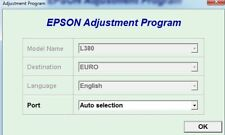Reset Epson L380 with Serial Generator