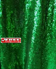Green Sequin Fabric, Glitters Forest Green on Christmas Green sequin on Mesh