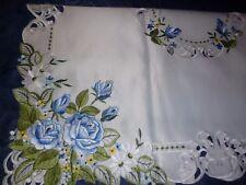 Tischdecke cremig mit Muster sehr schön Größe: 85 x 85 cm NEU