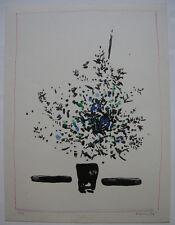 Oskar Koller Blumenstilleben Orig Farblithographie signiert 1974