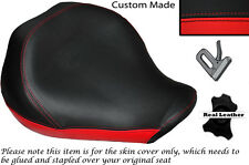 BLACK&BRIGHT RED CUSTOM FITS YAMAHA XVS 1300 MIDNGHT STAR 07-14 FRONT SEAT COVER