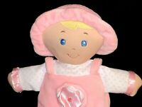Kids Preferred Pink Baby Doll Lovey w/Crinkle & Rattle Sounds Plush Stuffed Toy