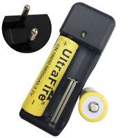 2X 18650 9800mAh 3.7V Li-ion Rechargeable Battery+4.2V Charger Plug EU
