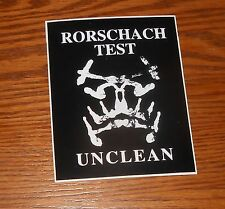 Rorshach Test Unclean Sticker Decal Rectangle 1998 Promo 5x4