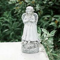 NEW Stone Effect Resin Angel Garden Ornament Statue Figurine Outdoor Indoor Girl