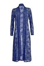 Ladies Lace Front Open Long Sleeves  Women Full Length Crochet Maxi  Cardigan