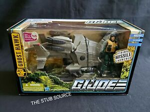 GI Joe Pursuit of Cobra Ghost Hawk Vehicle w Tomahack Figure Hasbro Sealed Box