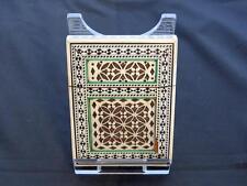 Antique Anglo-Indian Sandalwood Card Case, Ebony Vignette Pattern, 19th Century