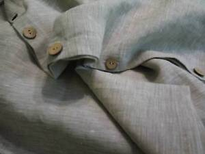 100% PURE SOLID LINEN DUVET COVER ORGANIC WITH WOODEN BUTTONS CLOSURE NATURAL