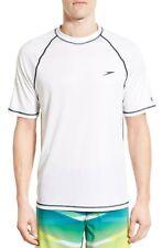 Speedo Men's White 'Easy' Raglan Swim T-Shirt 10008 Size L