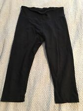 Women's Size Large Bally Total Fitness Capri Length Black Workout Exercise Pants
