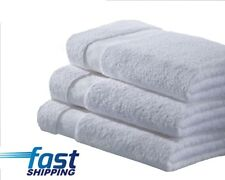 1 sample white hotel bath towels 24x48 new cardinal 100% cotton hotel towels