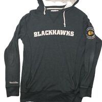 Mitchell & Ness Men's Large Black Chicago Blackhawks Long Sleeve Hoodie
