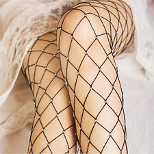 Diamante Embellished Rhinestone Crystal Glitter Medium Diamond Fishnet Tights