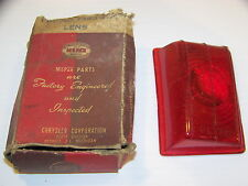 1949 PLYMOUTH DODGE LH TAILLIGHT LENS # 1253472 NOS PLYAD 3 PASSENGER P17 D31