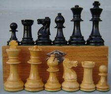 Vintage French Lardy Staunton Chess men, pieces, set in Wood Box France