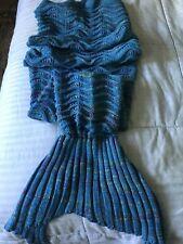 US Mermaid Tail Crocheted Sofa Snuggie Blanket Carpet Knit Soft Warm Adult 71x35