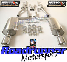 AUDI S4 B6 4.2 V8 EXHAUST MILLTEK CAT BACK RESONATED GT100 TAILS SSXAU296