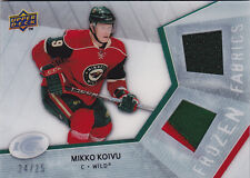 08-09 UD Ice Mikko Koivu /25 Jersey PATCH Frozen Fabrics Patches