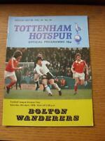 08/04/1978 Tottenham Hotspur v Bolton Wanderers [Division 2 Season] (No apparent