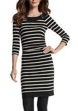 NWT White House Black Market 3/4-Sleeve Sparkle Stripe Knit Dress Extra Large