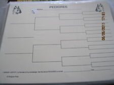 Boxer Blank Pedigree Sheets Pack 10